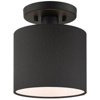 Livex 45661-04 Bainbridge 1 Light 7 inch Black Semi Flush Ceiling Light
