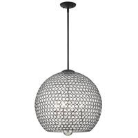 Livex 45724-04 Cassandra 4 Light 20 inch Black Pendant Ceiling Light