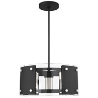 Livex 45994-04 Barcelona 7 Light 23 inch Black with Brushed Nickel Accents Pendant Chandelier Ceiling Light