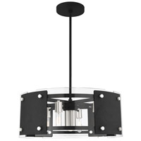 Livex 45995-04 Barcelona 7 Light 27 inch Black with Brushed Nickel Accents Pendant Chandelier Ceiling Light