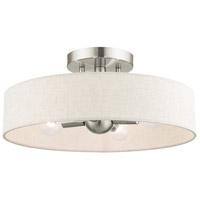 Livex 46037-91 Venlo 4 Light 14 inch Bronze with Antique Brass Accents Semi Flush Ceiling Light