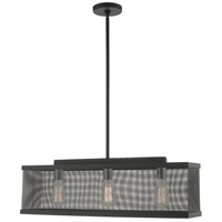 Livex Lighting 46213-04 Industro 3 Light 7 inch Black with Brushed Nickel Accents Chandelier Ceiling Light