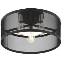 Livex 46219-04 Industro 3 Light 18 inch Black with Brushed Nickel Accents Semi Flush Ceiling Light alternative photo thumbnail