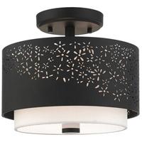 Livex 46267-04 Noria 2 Light 12 inch Black Semi Flush Ceiling Light