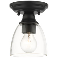 Livex 46331-04 Montgomery 1 Light 5 inch Black Flush Mount Ceiling Light