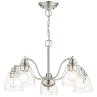 Livex 46335-91 Montgomery 5 Light 24 inch Brushed Nickel Chandelier Ceiling Light alternative photo thumbnail