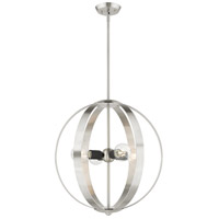 Livex Brushed Nickel Steel Modesto Chandeliers