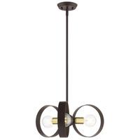 Livex 46423-07 Modesto 3 Light 19 inch Bronze Chandelier Ceiling Light