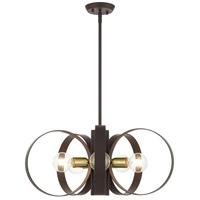 Livex 46425-07 Modesto 6 Light 24 inch Bronze Chandelier Ceiling Light