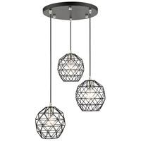 Livex Lighting 46593-04 Geometrix 3 Light 20 inch Black Pendant Ceiling Light
