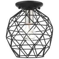 Livex 46598-04 Geometrix 1 Light 8 inch Black Flush Mount Ceiling Light