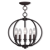 Livex Lighting Milania 5 Light Pendant/Ceiling Mount in Bronze 4665-07