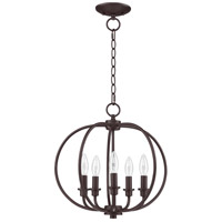 Livex 4665-07 Milania 5 Light 16 inch Bronze Pendant/Ceiling Mount Ceiling Light