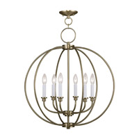 Livex Lighting Milania 6 Light Chandelier in Antique Brass 4666-01