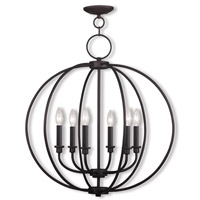 Livex Lighting Milania 6 Light Chandelier in Bronze 4666-07