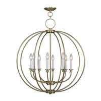 Milania 8 Light 28 inch Antique Brass Chandelier Ceiling Light