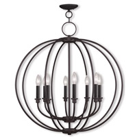 Livex Lighting Milania 8 Light Chandelier in Bronze 4668-07 photo thumbnail
