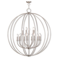 Milania 15 Light 42 inch Brushed Nickel Foyer Chandelier Ceiling Light