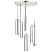 Livex Lighting 46756-91 Ardmore 6 Light 19 inch Brushed Nickel Pendant Ceiling Light