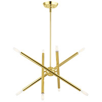 Livex 46774-02 Soho 8 Light 20 inch Polished Brass Chandelier Ceiling Light
