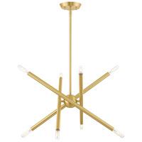 Livex Lighting 46774-12 Soho 8 Light 20 inch Satin Brass Chandelier Ceiling Light