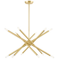 Livex Satin Brass Steel Soho Chandeliers