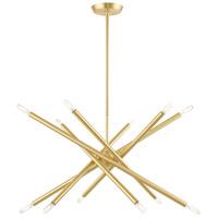 Livex 46776-12 Soho 12 Light 28 inch Satin Brass Chandelier Ceiling Light