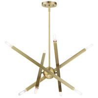 Livex 46985-01 Monaco 8 Light 26 inch Antique Brass Chandelier Ceiling Light