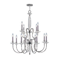 Livex Lighting Innsbruck 12 Light Chandelier in Chrome 4709-05