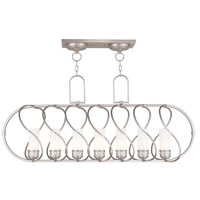 Livex Westfield 7 Light Island Light in Brushed Nickel 47196-91