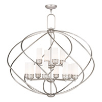 Livex Westfield 12 Light Foyer Chandelier in Brushed Nickel 47199-91