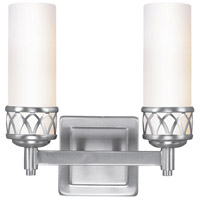 Livex Lighting Westfield 2 Light Bath Light in Brushed Nickel 4722-91