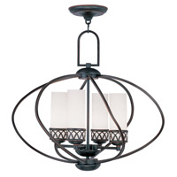 Livex 4724-67 Westfield 4 Light 22 inch Olde Bronze Chandelier Ceiling Light