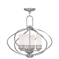 Livex Lighting Westfield 4 Light Chandelier in Brushed Nickel 4724-91
