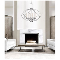 Livex 4725-91 Westfield 5 Light 26 inch Brushed Nickel Chandelier Ceiling Light in Satin White