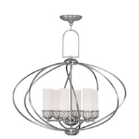 Livex Lighting Westfield 6 Light Chandelier in Brushed Nickel 4726-91