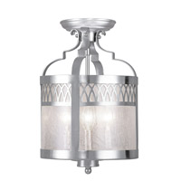Livex Lighting Westfield 3 Light Pendant/Ceiling Mount in Brushed Nickel 4733-91