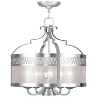 Livex 4735-91 Westfield 6 Light 20 inch Brushed Nickel Chandelier Ceiling Light