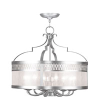 Livex Lighting Westfield 9 Light Chandelier in Brushed Nickel 4738-91