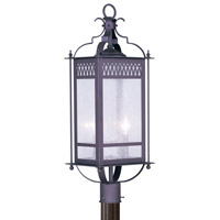 Livex Lighting Westfield 2 Light Outdoor Post Head in Bronze 4744-07
