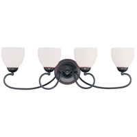 Livex Lighting Brookside 4 Light Bath Light in Olde Bronze 4754-67