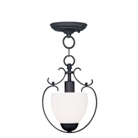 Livex Lighting Brookside 1 Light Pendant/Ceiling Mount in Black 4760-04