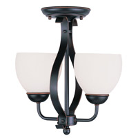 Livex Lighting Brookside 2 Light Pendant/Ceiling Mount in Olde Bronze 4762-67 alternative photo thumbnail