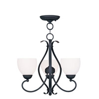 Livex Lighting Brookside 3 Light Pendant/Ceiling Mount in Black 4763-04