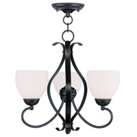 Livex Lighting Brookside 3 Light Pendant/Ceiling Mount in Olde Bronze 4763-67