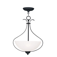 Livex Lighting Brookside 3 Light Pendant in Black 4764-04