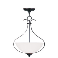 Livex Lighting Brookside 3 Light Pendant in Olde Bronze 4764-67
