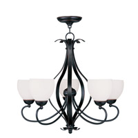 Livex Lighting Brookside 5 Light Chandelier in Olde Bronze 4765-67