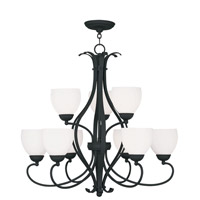 Livex Lighting Brookside 9 Light Chandelier in Black 4769-04