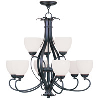 Livex Lighting Brookside 9 Light Chandelier in Olde Bronze 4769-67